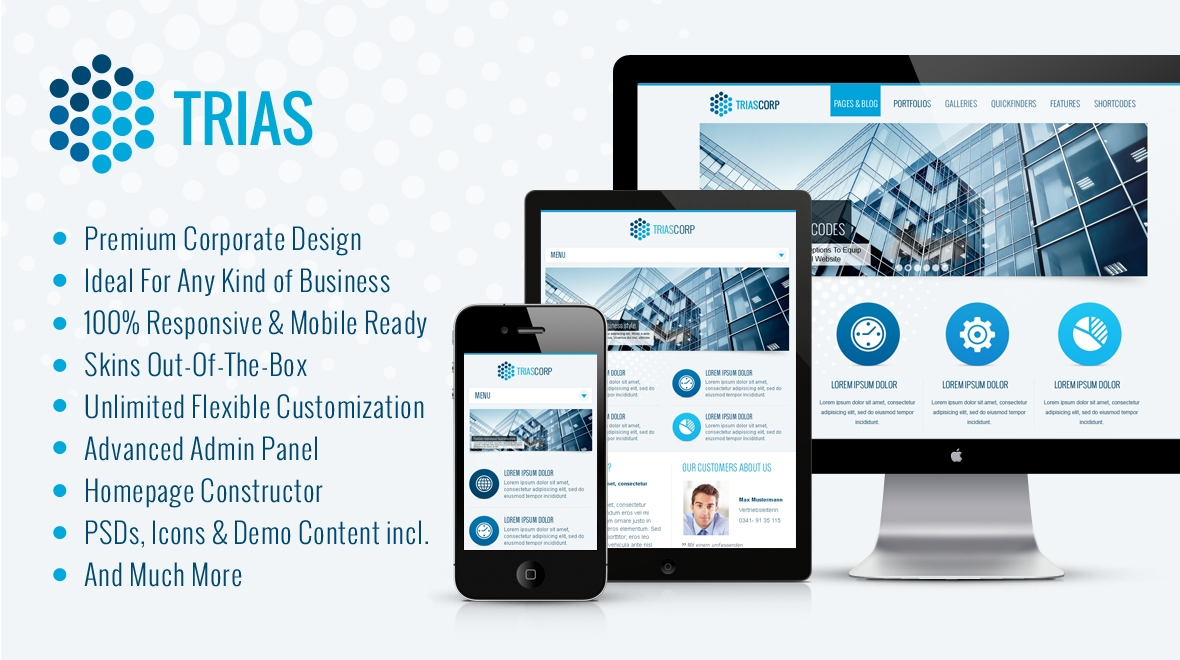 Trias | Multi-Style Corporate WordPress Theme