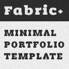 Fabric+ // Minimal One Page Portfolio