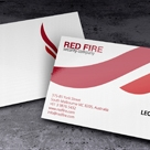 Creative and unique business card template RedFire