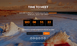 Time to Meet – Responsive Under Construction HTML5 Template