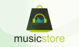 MusicStore Logo Design