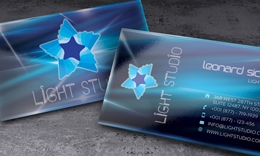 Creative and unique business card - Light Studio