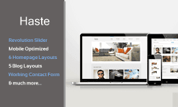Haste - Responsive HTML5 Template