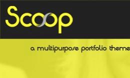 Scoop - A Unique WordPress Portfolio Theme