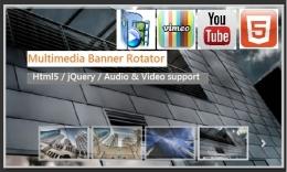 Multimedia  Banner Rotator ( Html5 / jQuery )