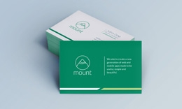Creative Minimal Business Card - Mount