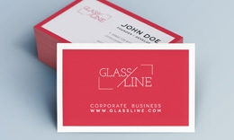 Creative Minimal Business Card - Glass Line