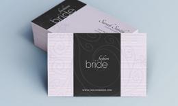 Creative Stylish Business Card - Fashion Bride