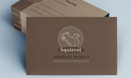 Creative Minimal Business Card - Squirrel