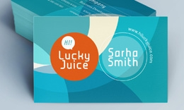 Creative Stylish Business Card - Juice