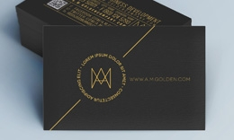 Creative Stilysh Business Card - Golden