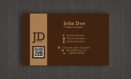 Brown Business Card #3