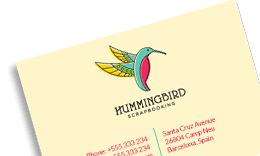 Business Card - Hummingbird